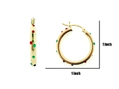 14K Gold Fashion Hoop Earrings